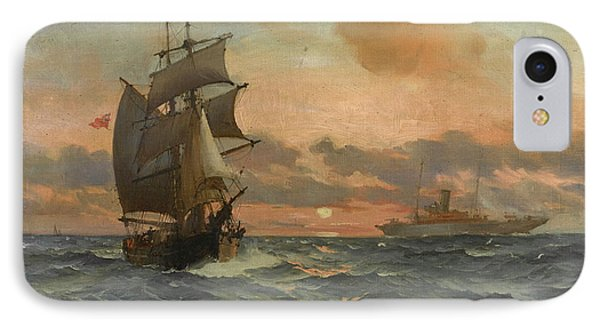 A Merchant Brig IPhone Case by Montague Dawson