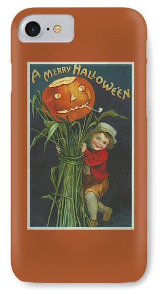 A Merry Halloween IPhone Case by Ellen Hattie Clapsaddle
