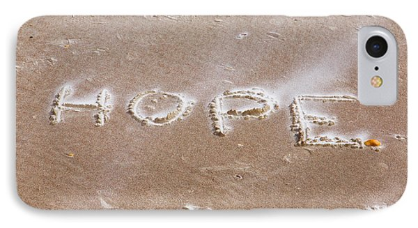 IPhone Case featuring the photograph A Message On The Beach by John M Bailey