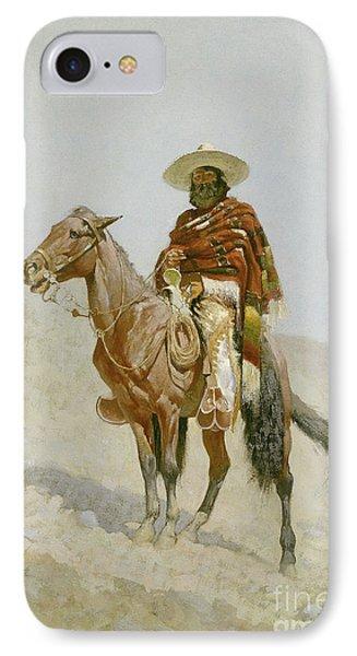 A Mexican Vaquero IPhone Case by Frederic Remington