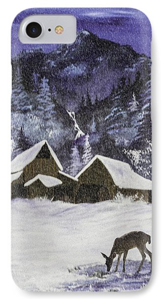 A Midnight Clear A Variation IPhone Case by Diane Schuster