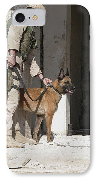 A Military Working Dog And His Handler IPhone Case