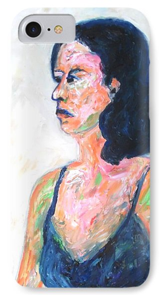 IPhone Case featuring the painting A Modern Madame Bovary by Esther Newman-Cohen