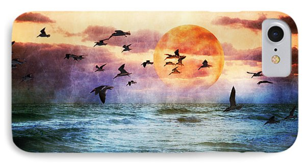 A Moment At Sea IPhone Case by Debra and Dave Vanderlaan