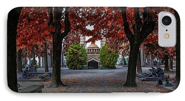 A Monumental Autumn In Milan Italy IPhone Case by Carol Japp