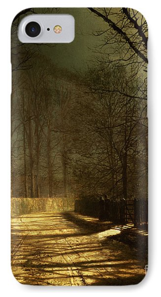 A Moonlit Lane IPhone Case by John Atkinson Grimshaw