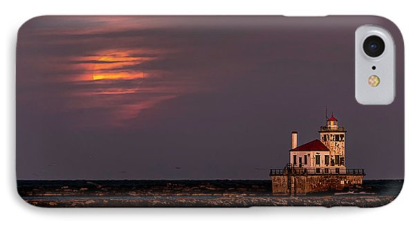 IPhone Case featuring the photograph A Moonsetting Sunrise by Everet Regal