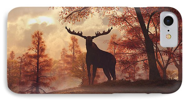 A Moose In Fall IPhone Case by Daniel Eskridge