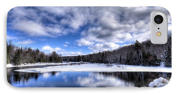 IPhone 7 Case featuring the photograph A Moose River Snowscape by David Patterson
