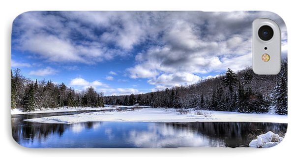 IPhone Case featuring the photograph A Moose River Snowscape by David Patterson