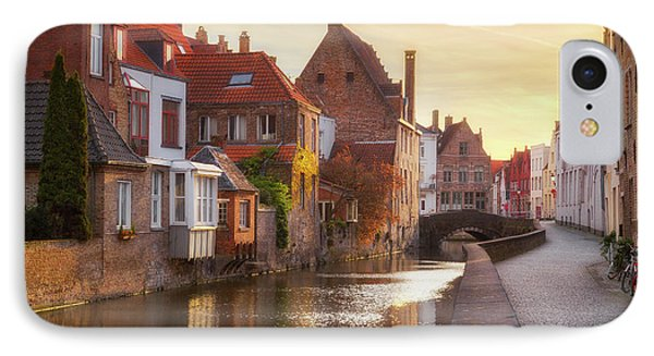 A Morning In Brugge IPhone Case by JR Photography