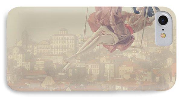 Surrealism iPhone 7 Case - a morning over Oporto by Anka Zhuravleva