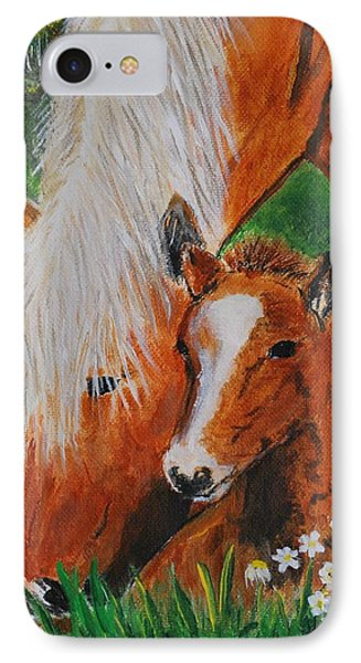 IPhone Case featuring the painting A Mothers Love by Leslie Allen