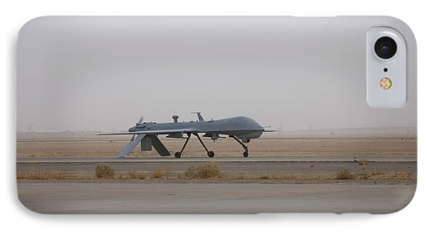 A Mq-1c Warrior Taxis Out To The Runway IPhone Case