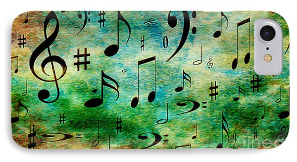 IPhone Case featuring the digital art A Musical Storm 2 by Andee Design