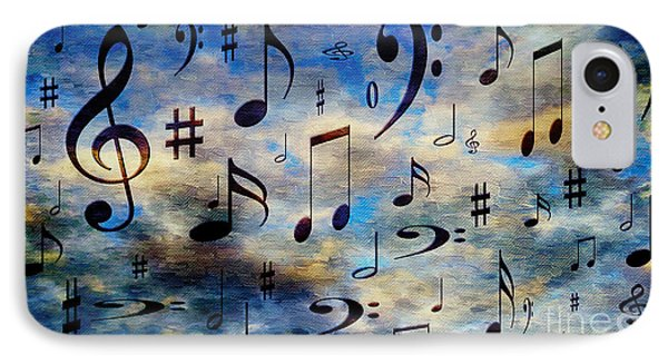 IPhone Case featuring the digital art A Musical Storm 3 by Andee Design