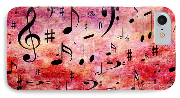 IPhone Case featuring the digital art A Musical Storm 4 by Andee Design