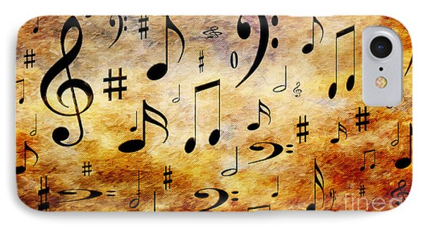 IPhone Case featuring the digital art A Musical Storm by Andee Design