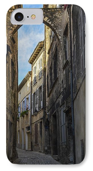 IPhone Case featuring the photograph A Narrow Street In Viviers by Allen Sheffield