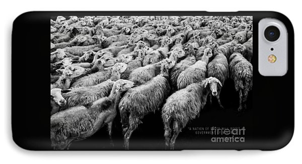 A Nation Of Sheep IPhone Case by Edward Fielding