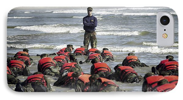 A Navy Seal Instructor Assists Students Phone Case by Stocktrek Images