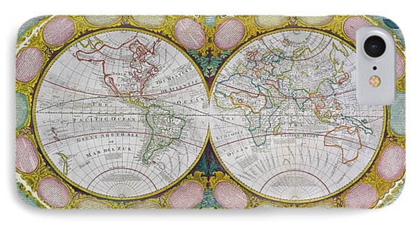 A New And Correct Map Of The World Phone Case by Robert Wilkinson