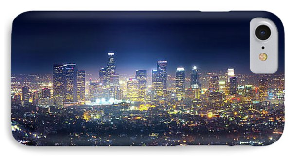 A Night In Los Angeles IPhone Case by Mark Andrew Thomas
