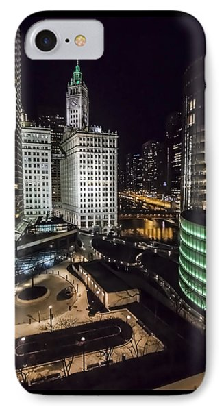 A Nighttime Look At Chicago's Wrigley Building IPhone Case by Sven Brogren