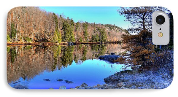 IPhone 7 Case featuring the photograph A November Morning On The Pond by David Patterson