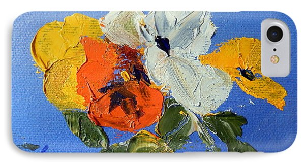 A Nudge Of Pansies Phone Case by Ron Wilson