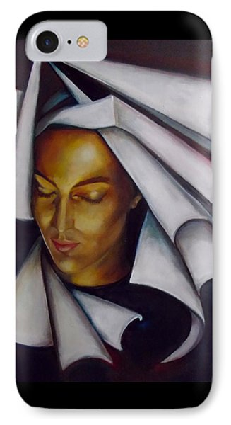 IPhone Case featuring the painting A Nun by Irena Mohr