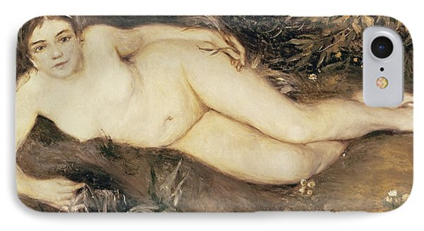 A Nymph By A Stream Phone Case by Pierre Auguste Renoir