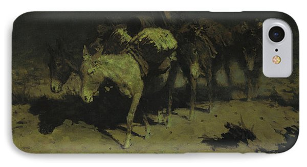 A Pack Train IPhone Case by Frederic Remington