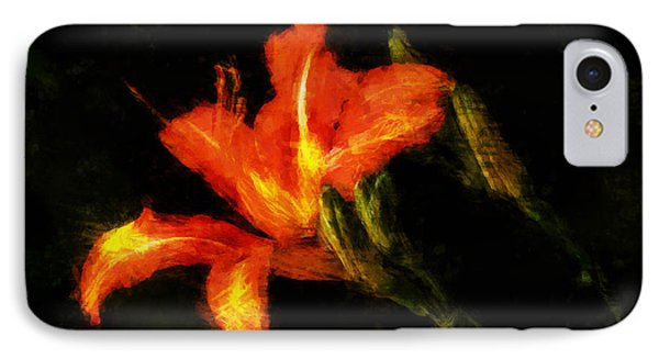A Painted Lily IPhone Case by Cameron Wood