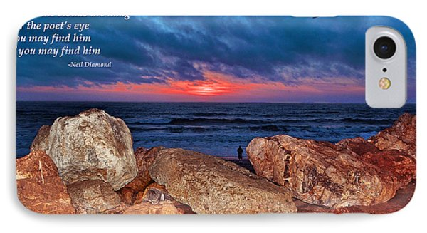 A Painted Sky For The Poet's Eye IPhone Case by Jim Fitzpatrick