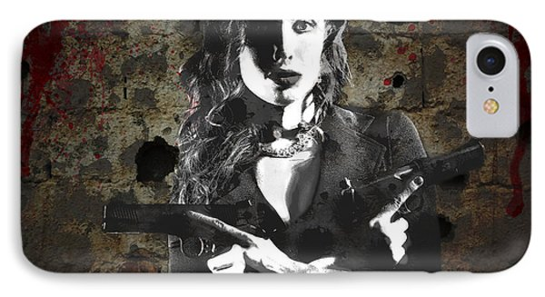 A Pair Of 1911 IPhone Case by David Bazabal Studios