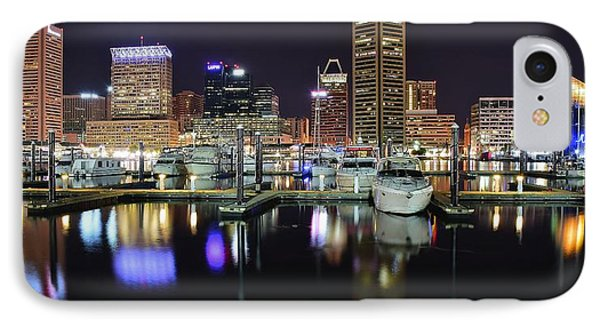 A Panoramic Baltimore Night IPhone Case by Frozen in Time Fine Art Photography