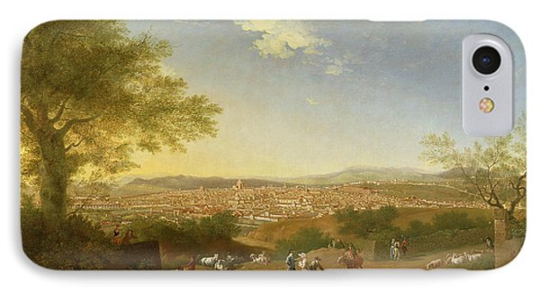 A Panoramic View Of Florence From Bellosguardo IPhone Case by Thomas Patch