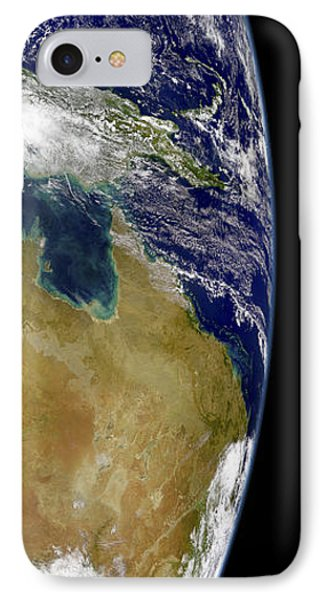 A Partial View Of Earth Showing Phone Case by Stocktrek Images