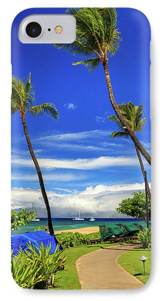 A Path In Kaanapali IPhone Case by James Eddy