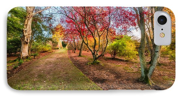 A Path Into Autumn IPhone Case by Adrian Evans