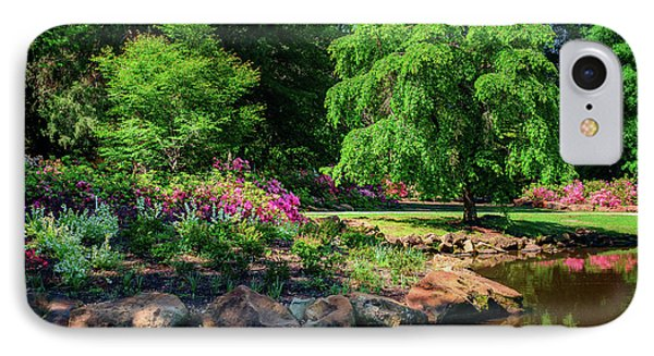 A Peaceful Feeling At The Azalea Pond IPhone Case by Tamyra Ayles