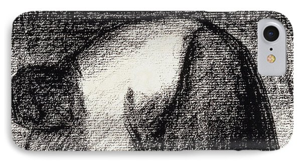 A Peasant Woman With Hands In The Ground IPhone Case by Georges Pierre Seurat