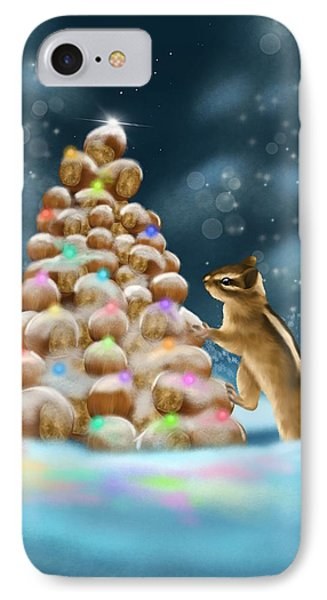 IPhone Case featuring the painting A Perfect Christmas Tree by Veronica Minozzi