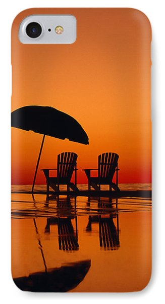 A Picturesque Scene With Two Chairs Phone Case by Michael Melford