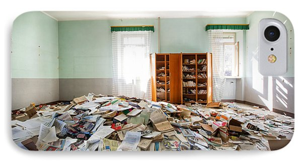 A Pile Of Knowledge - Abandoned School IPhone Case