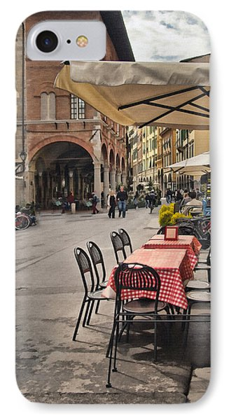 A Pisa Cafe Phone Case by Sharon Foster
