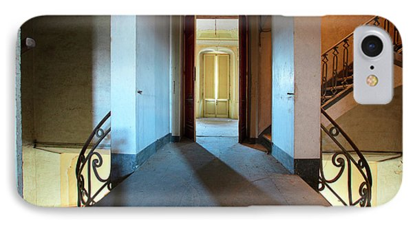 IPhone Case featuring the photograph A Play Of Light On Ythe Stairway by Dirk Ercken