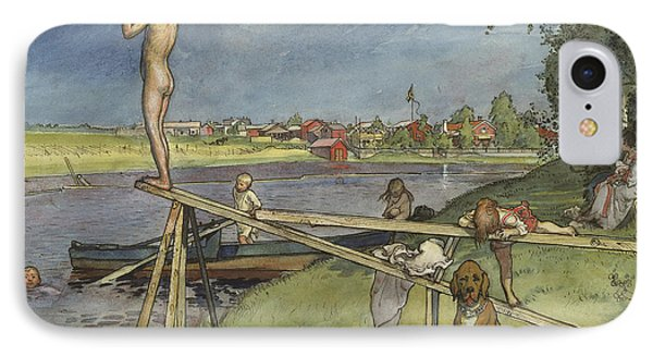 A Pleasant Bathing Place IPhone Case by Carl Larsson