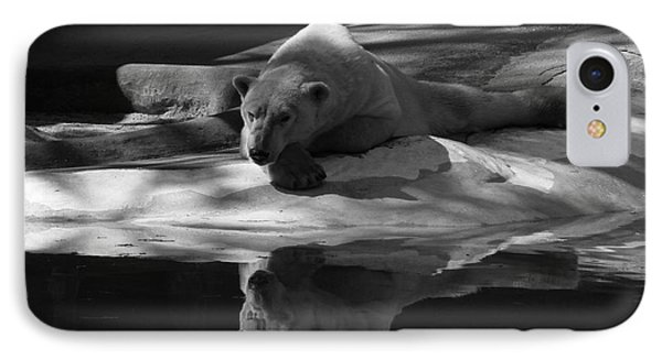 A Polar Bear Reflects Phone Case by Karol Livote